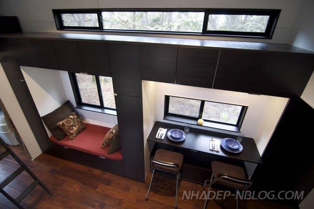 Mẫu nhà nhỏ đẹp với phòng ngủ trên gác lửng