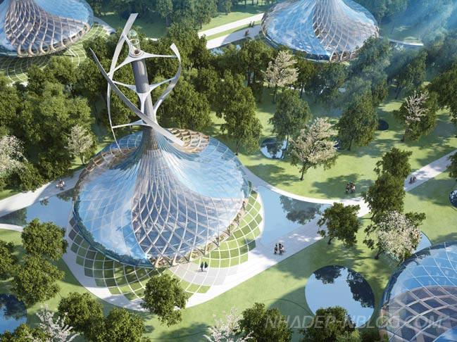 Dự án biệt thự sinh thái với kiến trúc tương lai