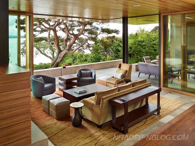 Ngôi biệt thự đẹp với nội thất gỗ hiện đại