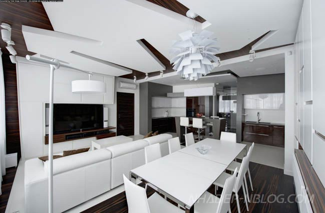 Mẫu căn hộ chung cư đẹp với thiết kế phá cách