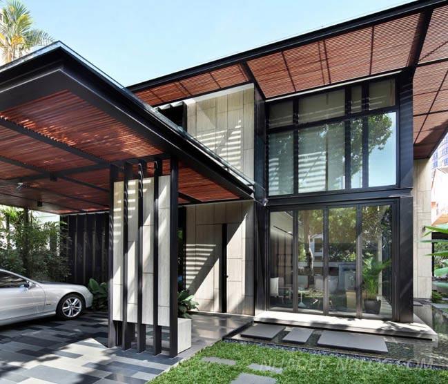 Biệt thự đẹp với không gian mở tại Singapore