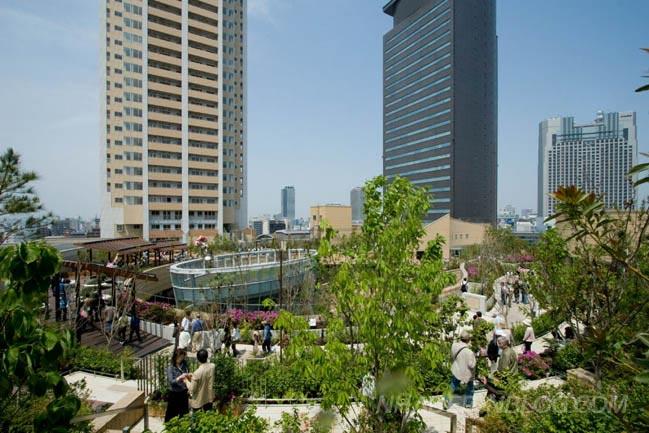 Namba Parks kiến trúc xanh tại Osaka Nhật Bản