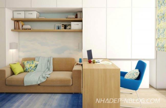 Nhà nhỏ đẹp với thiết kế nội thất xinh xắn
