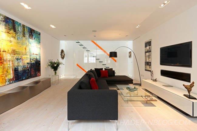 Nhà đẹp 2 tầng với thiết kế hiện đại đầy màu sắc