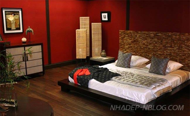 16 mẫu nội thất phòng ngủ mang phong cách Châu Á
