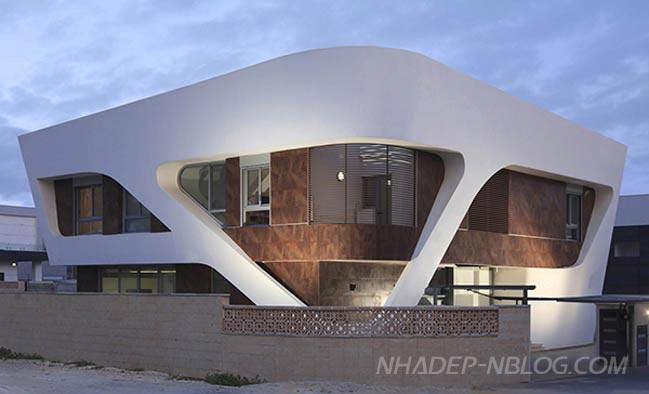 Mẫu biệt thự đẹp với thiết kế hình học