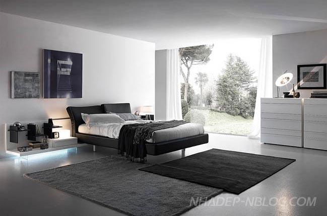 Thiết kế giường ngủ hiện đại cao cấp phong cách Ý