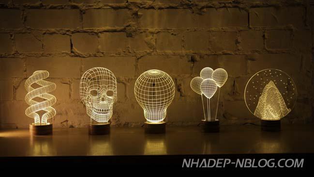 Mẫu đèn với hiệu ứng 3D ấn tượng