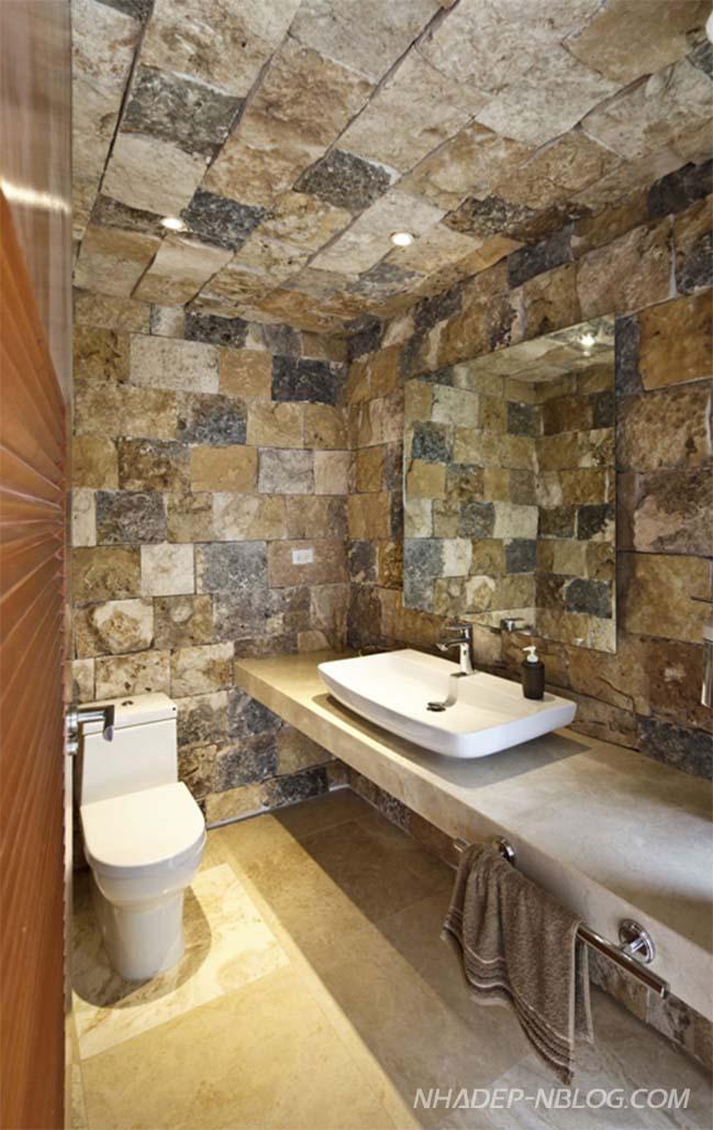 Mẫu biệt thự đẹp với tường đá độc đáo