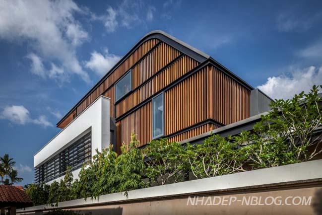 Thiết kế biệt thự đẹp 2 tầng tại Singapore