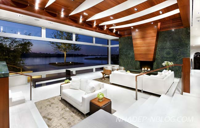 Mẫu biệt thự đẹp bên hồ với thiết kế hiện đại