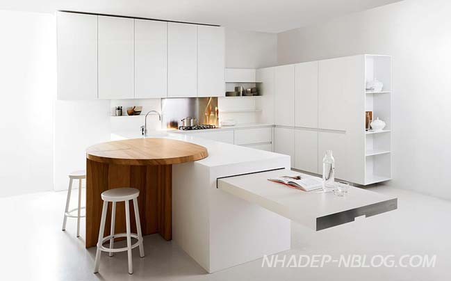 Thiết kế nhà bếp đẹp với giải pháp không gian