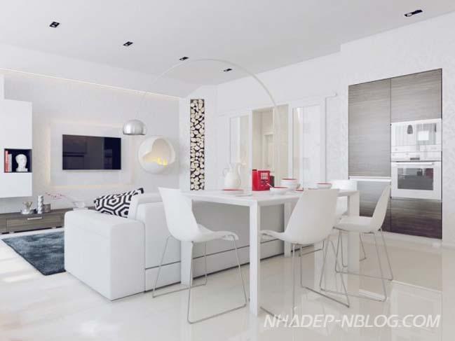 Mẫu nhà đẹp với màu trắng trang nhã