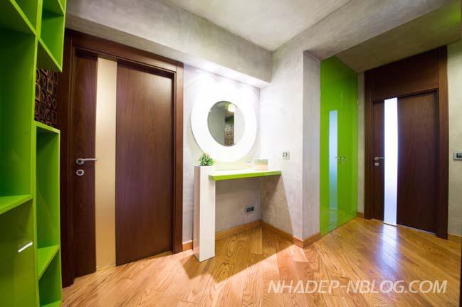 Căn hộ chung cư đẹp với màu sắc sặc sỡ