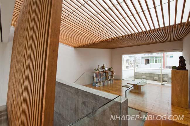 Thiết kế nhà phố đẹp 3 tầng mang màu sắc thiên nhiên
