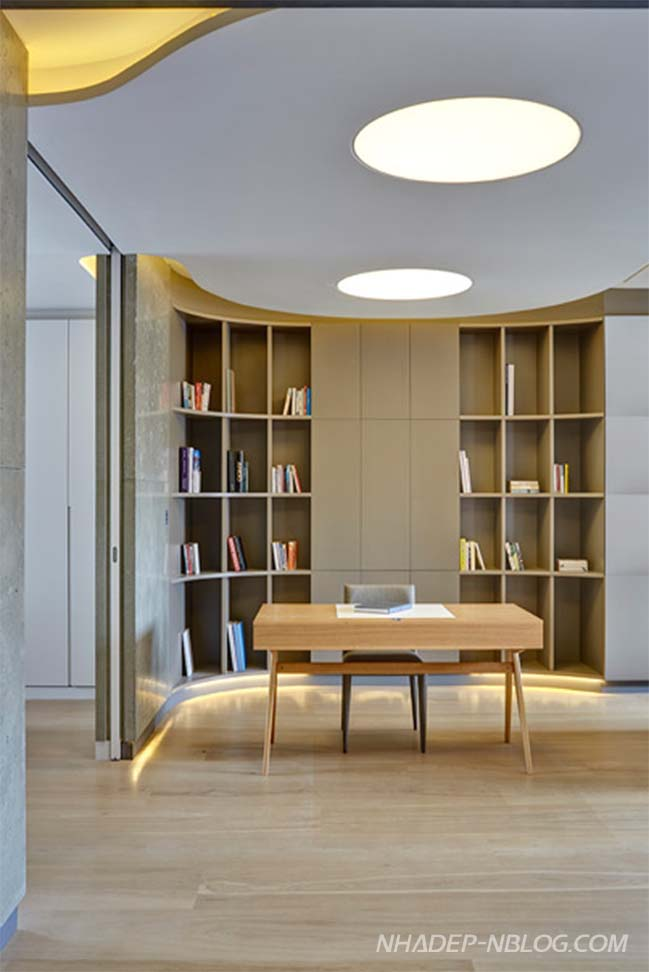 Thiết kế nhà đẹp với nội thất gỗ và bê tông ấm áp