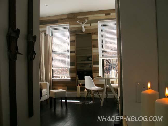 Mẫu nhà nhỏ đẹp với nội thất gỗ mộc mạc