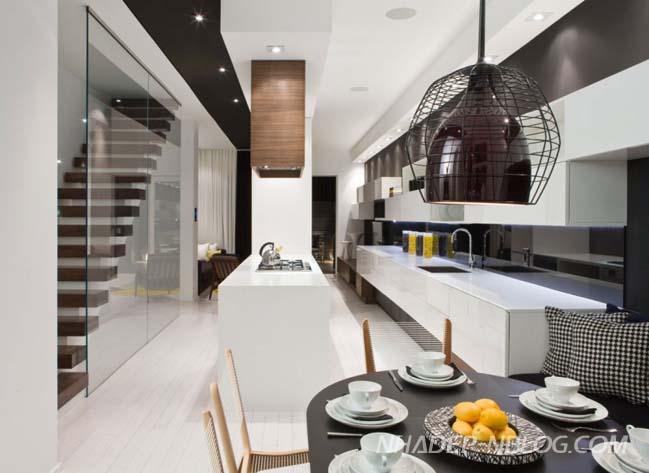 Thiết kế nhà phố đẹp hiện đại tinh tế