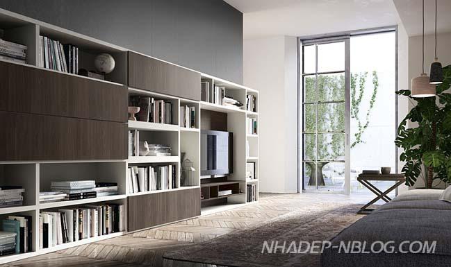 Thiết kế nội thất phòng khách đẹp cho những người yêu sách