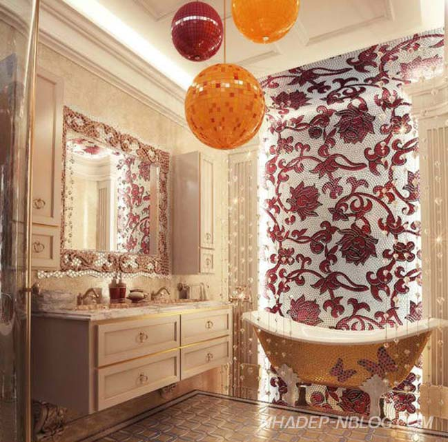 15 mẫu thiết kế phòng tắm đẹp với bồn tắm cổ điển