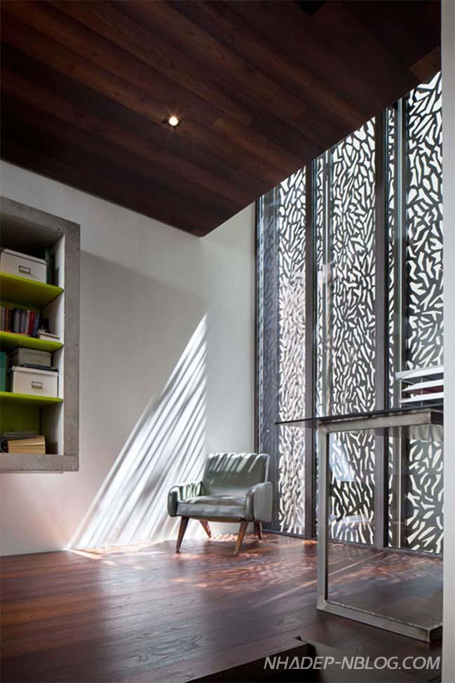 Mẫu nhà đẹp 2 tầng với ngoại thất hoa văn độc đáo