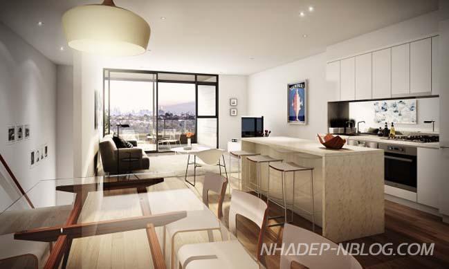 Những mẫu thiết kế nội thất căn hộ chung cư hiện đại