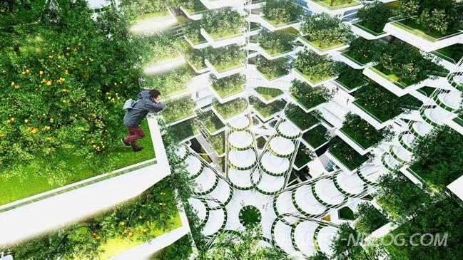 Nông trại hiện đại với kiến trúc cây xanh độc đáo