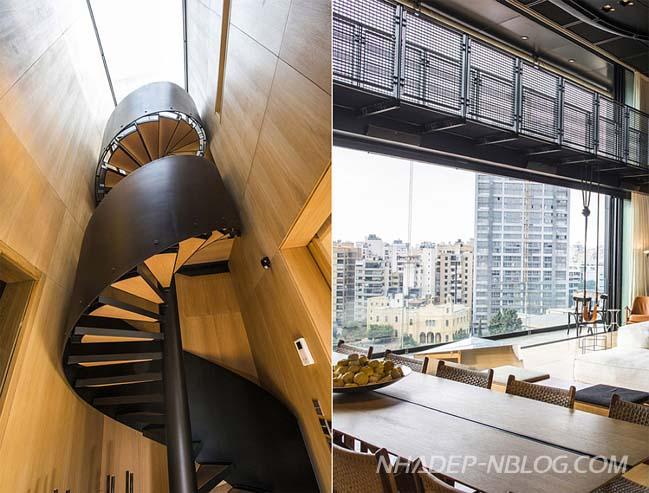 Căn hộ Penthouse với thiết kế như căn cứ phòng không
