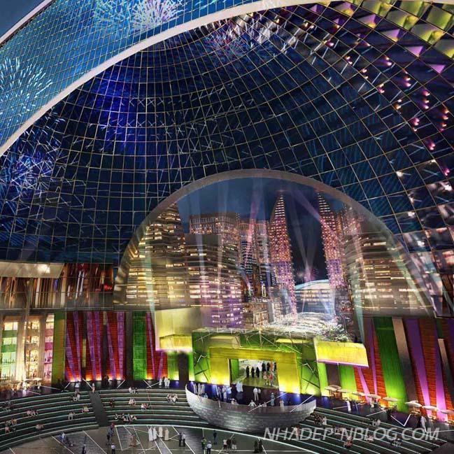 Kiến trúc độc đáo của thành phố kiểm soát nhiệt độ tại Dubai