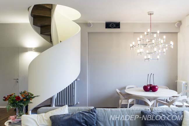 Mẫu thiết kế căn hộ thông tầng trang nhã