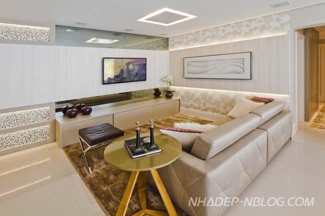 Mẫu nhà đẹp với thiết kế nội thất sang trọng hiện đại