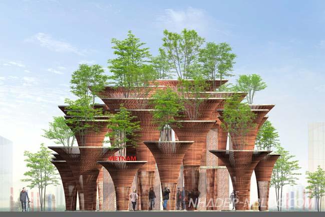 Kiến trúc tre độc đáo của Việt Nam tại Expo 2015