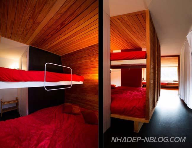 Mẫu nhà nhỏ đẹp với nội thất gỗ ấm cúng