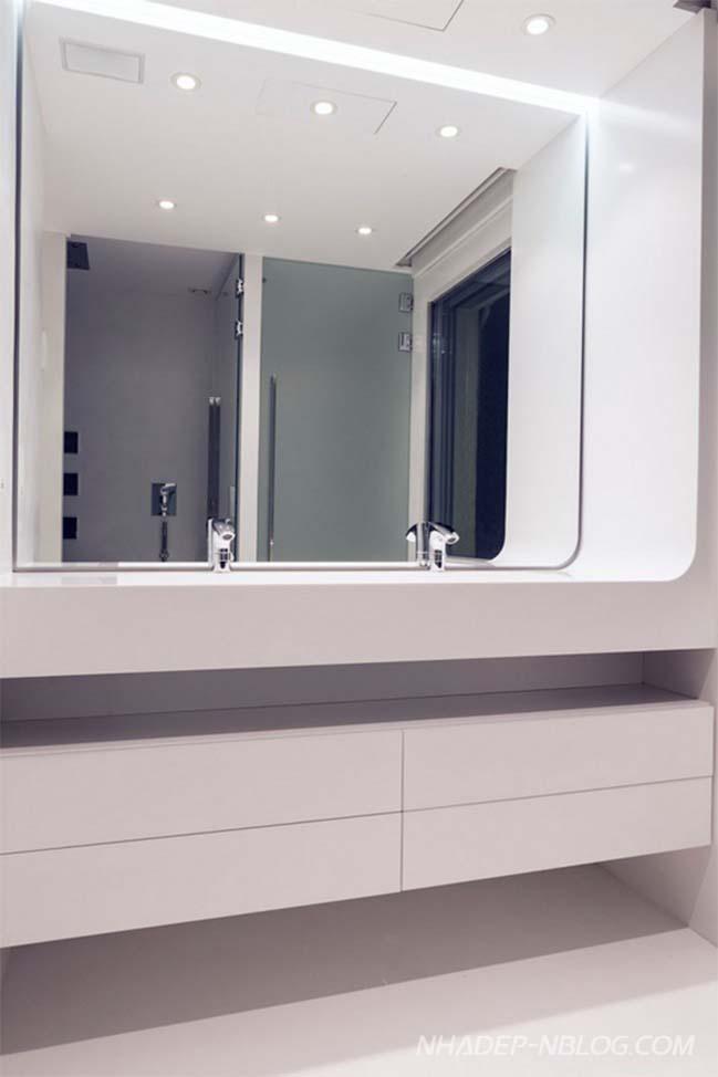 Thiết kế nhà đẹp với màu trắng hiện đại