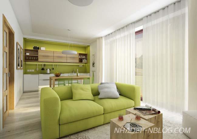 Biệt thự vườn đẹp với nội thất gỗ mộc mạc