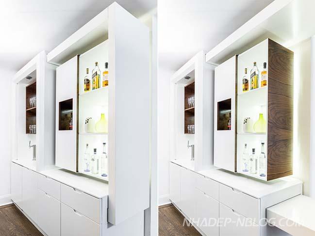 Thiết kế kệ tủ hoàn mỹ cho không gian nhỏ
