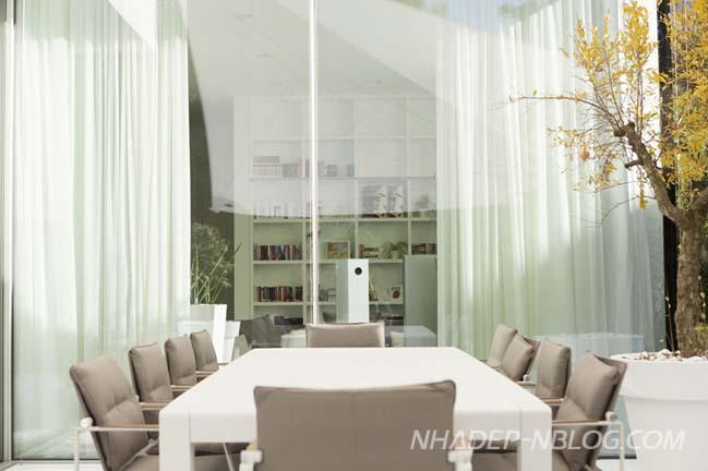 Biệt thự đẹp xa hoa với màu trắng trang nhã