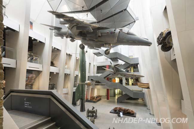 Kiến trúc độc đáo của bảo tàng chiến tranh tại London