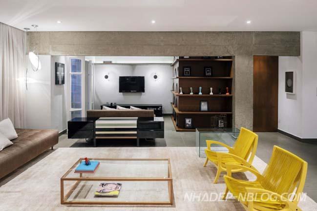 Căn hộ chung cư đẹp với không gian mở xuyên suốt