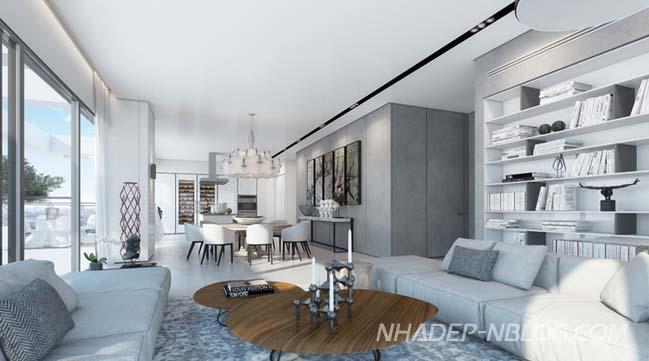 Không gian trắng hoàn hảo cho căn hộ chung cư