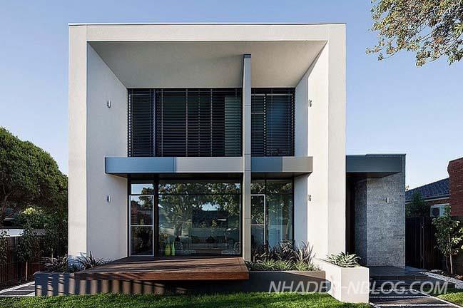 Mẫu biệt thự đẹp 2 tầng với thiết kế hiện đại