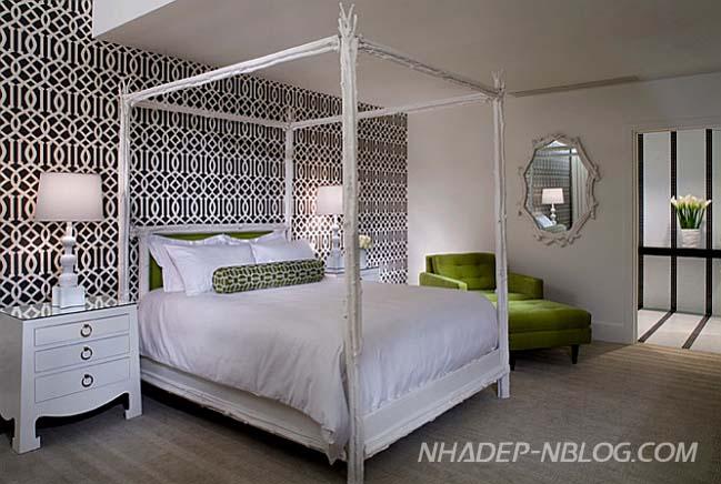 Những mẫu phòng ngủ đẹp với điểm nhấn màu đen nổi bật