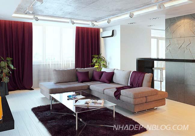 Căn hộ chung cư với thiết kế sang trọng tinh tế