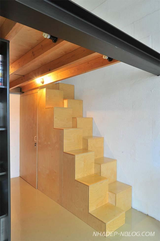 Mẫu nhà nhỏ đẹp gác lửng với thiết kế tối giản