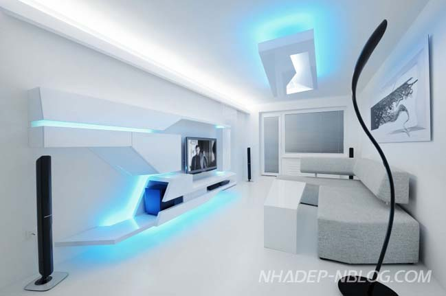Mẫu nhà đẹp với thiết kế tương lai ấn tượng