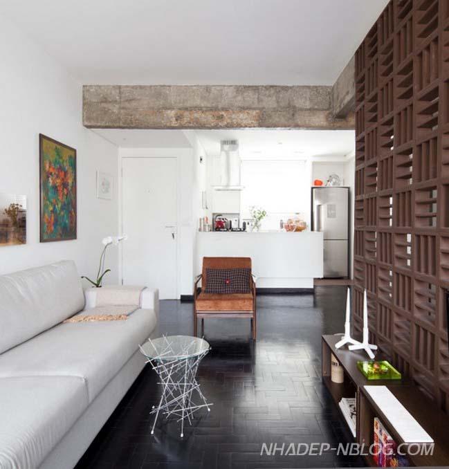 Cải tạo căn hộ 1 phòng ngủ với thiết kế không gian mở