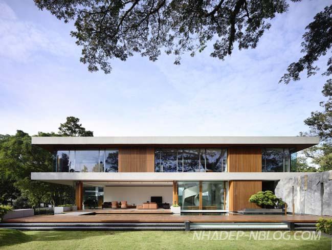 Biệt thự đẹp 2 tầng với cảm hứng từ thiên nhiên