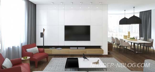 Những mẫu nội thất căn hộ chung cư với thiết kế hiện đại trẻ trung