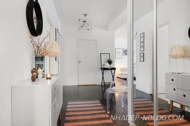 Căn hộ 2 phòng ngủ với thiết kế Scandinavian tươi sáng