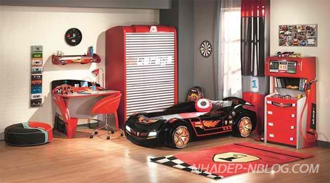 Những mẫu phòng ngủ đẹp với chủ đề xe hơi